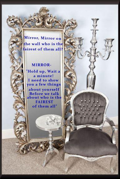EE481 Nita Extra Large Silver Mirror